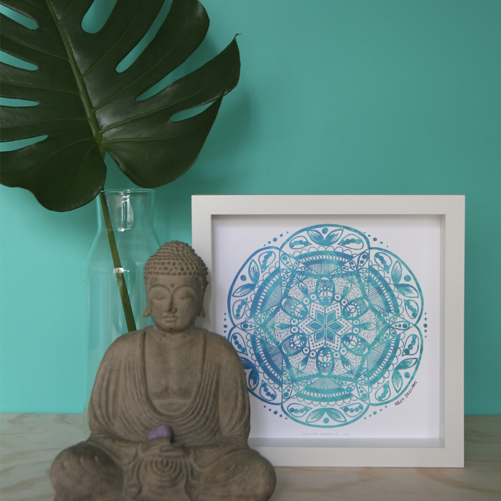 Explore Mandala – Aqua – Limited Edition