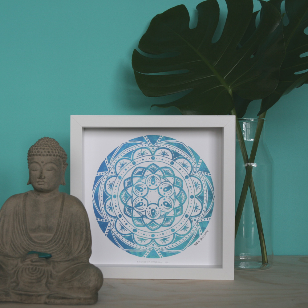Friendship Mandala – Aqua – Limited Edition