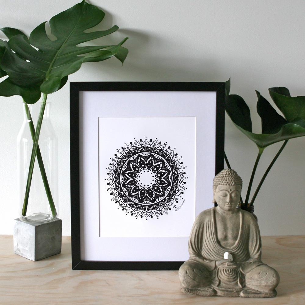 Gratitude Mandala – A4 Print