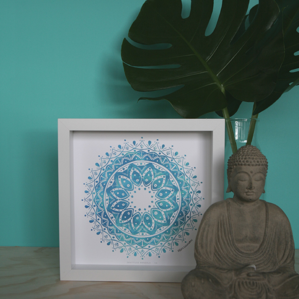 Gratitude Mandala – Aqua – Limited Edition