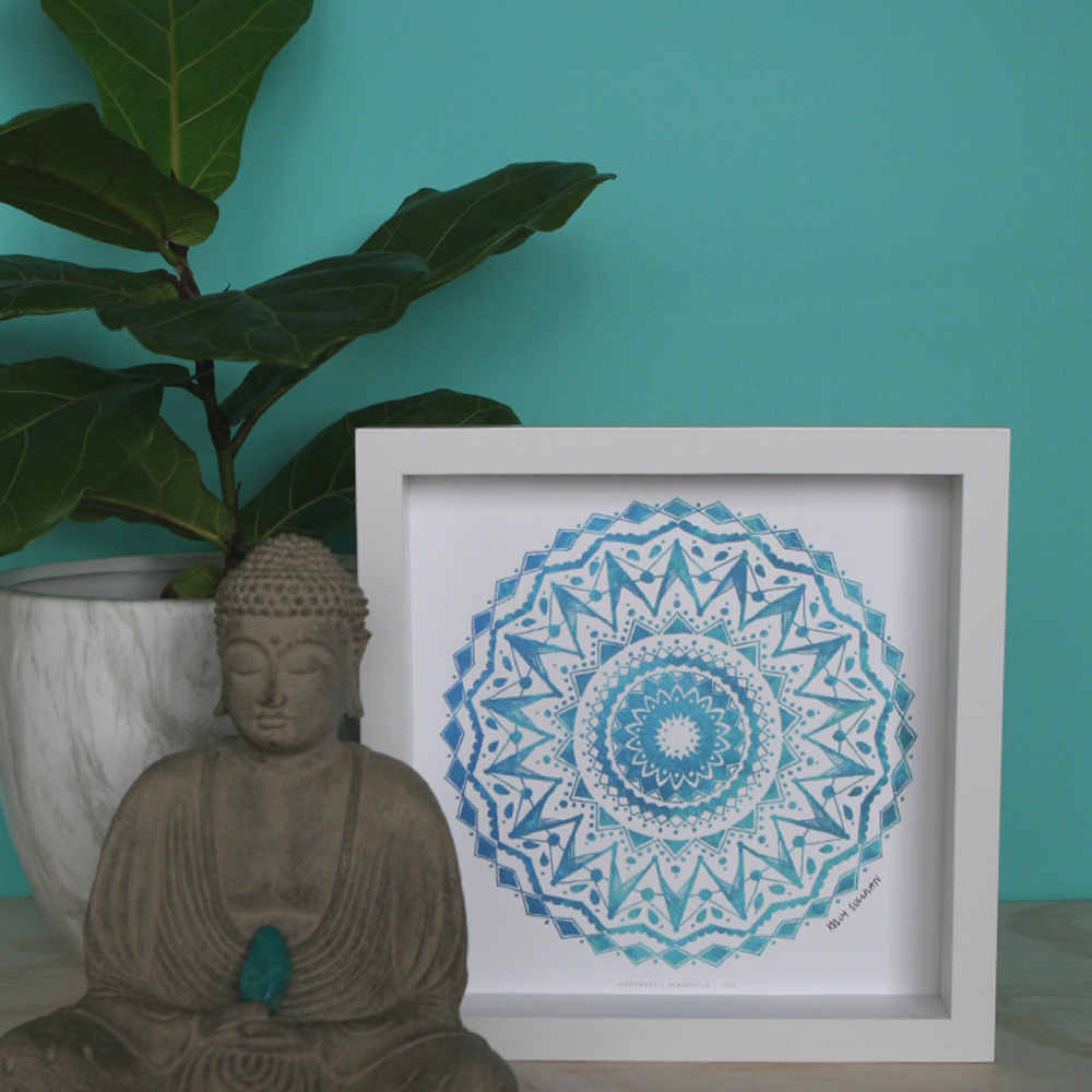 Happiness Mandala – Aqua – Limited Edition