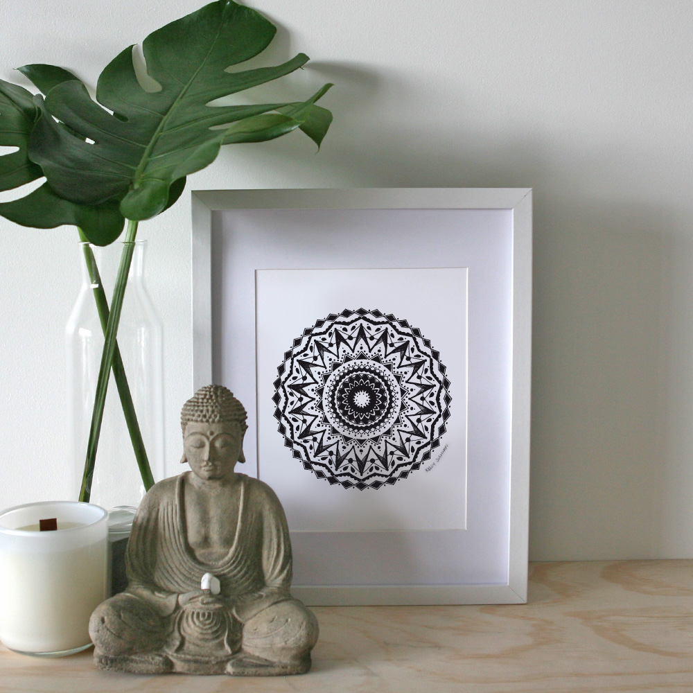 Happiness Mandala – A4 Print