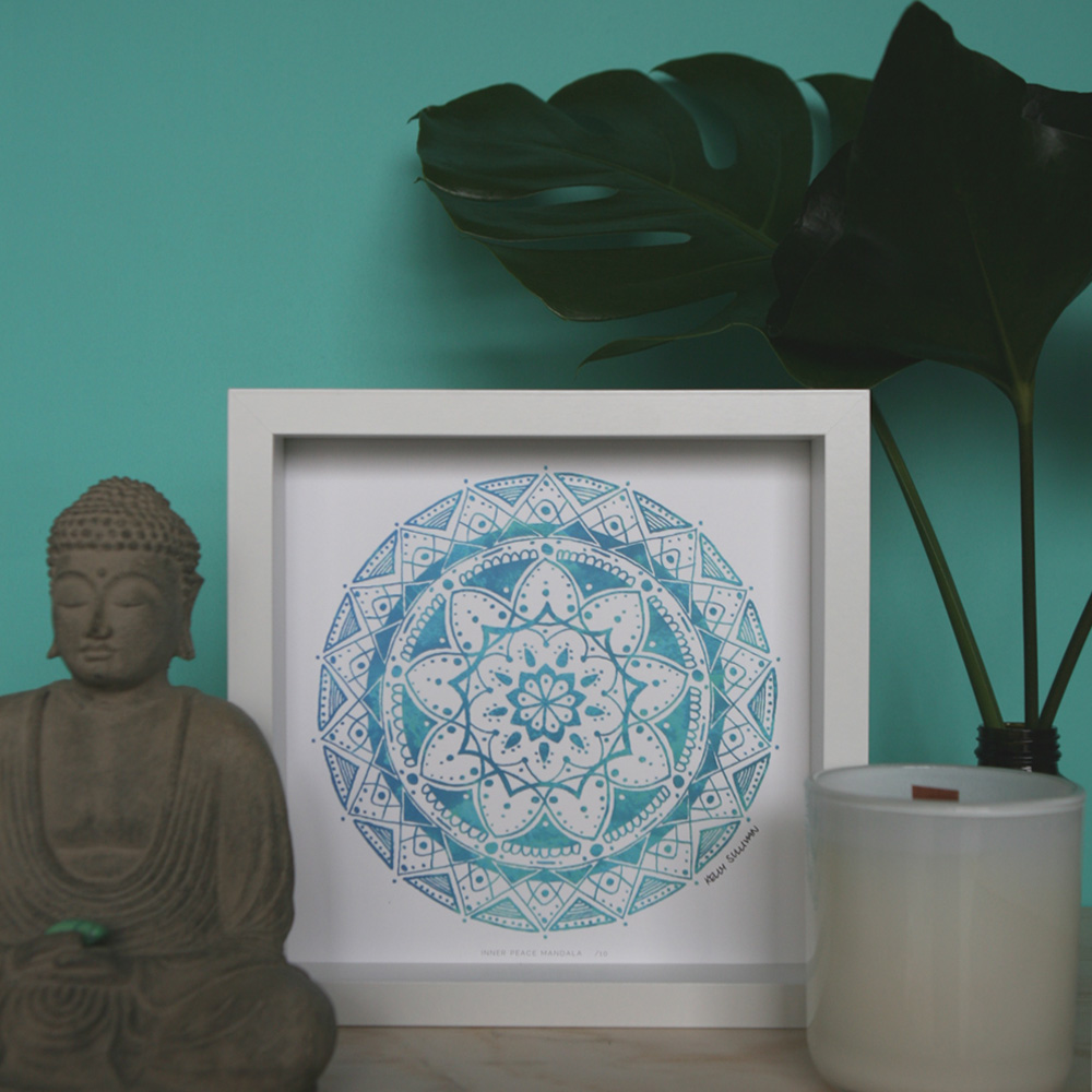 Inner Peace Mandala – Aqua – Limited Edition