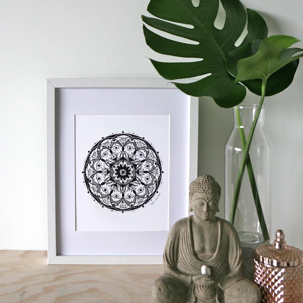 Love Mandala – A4 Print