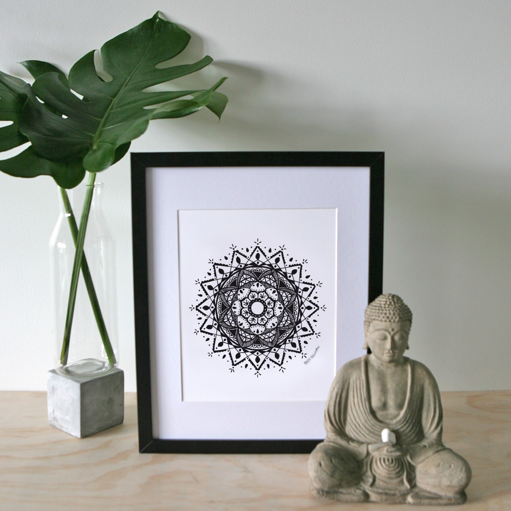 New Beginnings Mandala – A4 Print