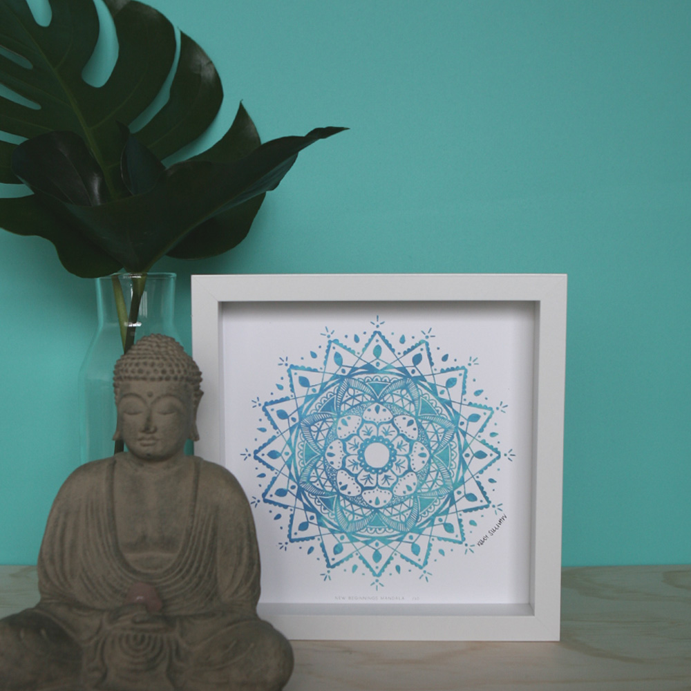 New Beginnings Mandala – Aqua – Limited Edition