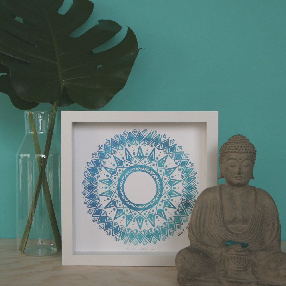 Strength Mandala – Aqua – Limited Edition